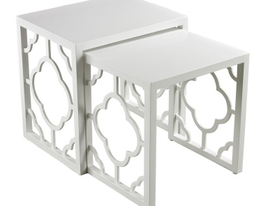 Стол Gloss White Nesting Table Dimond Home