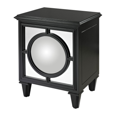 Шкаф Mirage Gloss Black Cabinet With Convex Mirror By