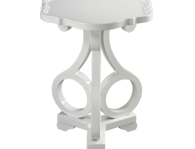 Стол Knockeen Gloss White Accent Table By Dimond Home