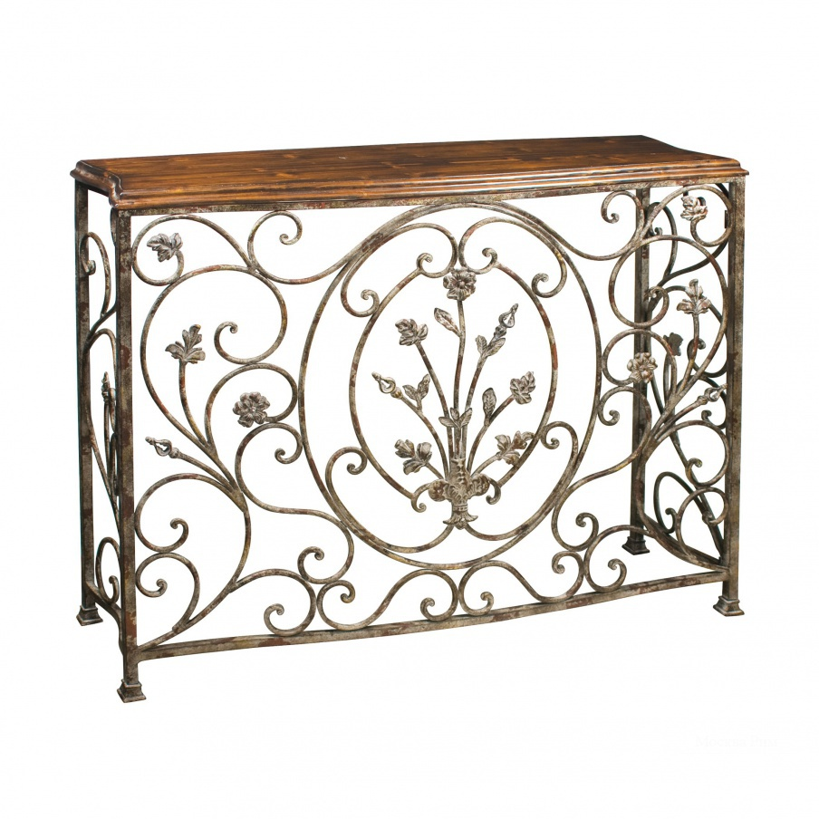 Консоль Floral Scroll Console Sterling