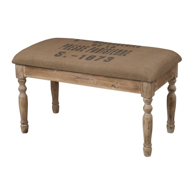 Скамья Presse Parisienne Linen Covered Bench