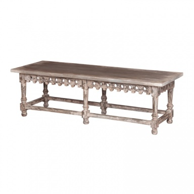 Скамья Coffee Table/Bench With Ornamental Apron