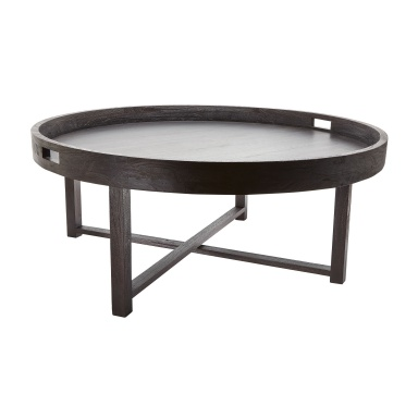 Стол Round Black Teak Coffee Table Tray