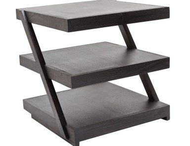 Стол Stacked Black Teak Side Table Dimond Home