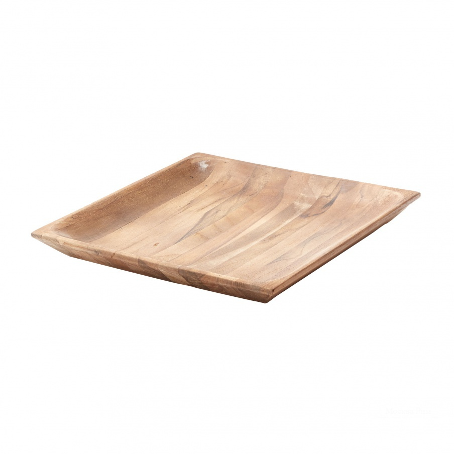 Поднос Natural Shallow Teak Tray - Lg Dimond Home