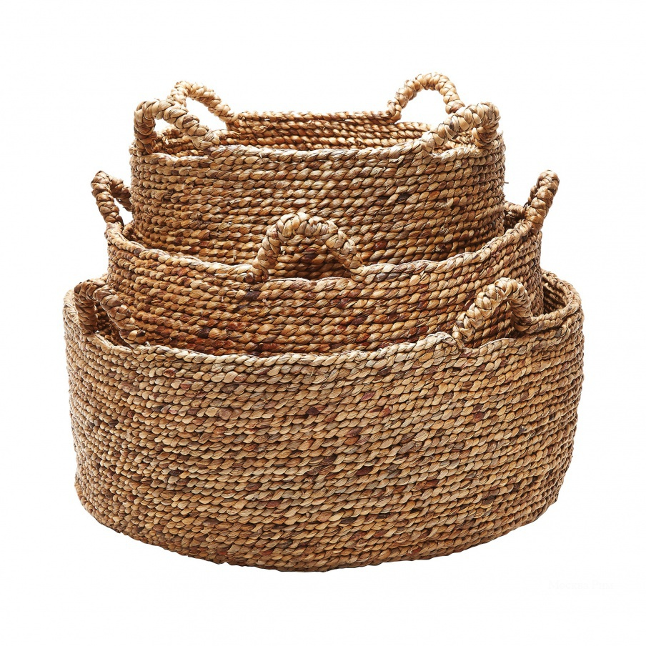 Коробочка для хранения Natural Low Rise Baskets- Set Of 3 Dimond Home