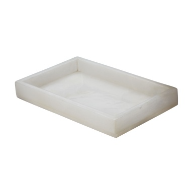 Поднос White Alabaster Vanity Tray