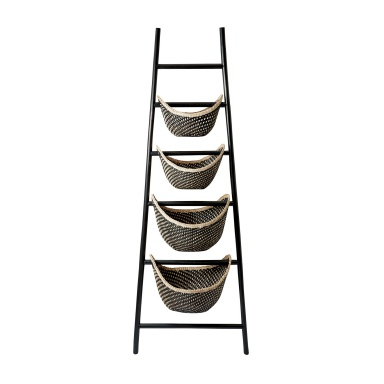 Корзина Black Plaid Ladder Basket