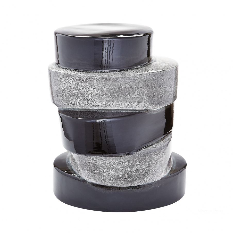 Стол Stacked Ovals Side Table In Black And Grey Dimond Home
