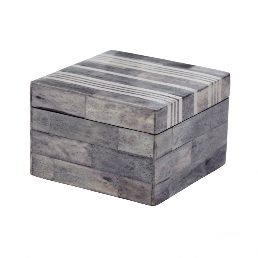 Коробочка для хранения Gray And White Bone Boxes - Sm Dimond Home