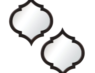 Зеркало Horizonte Mirrors In Black With Hand Rubbed Silver Edging - Set of 2 Dimond Home