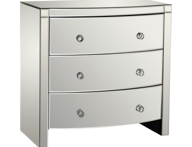 Комод Bow Front Mirror 3 Drawer Chest Dimond Home