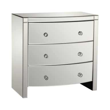 Комод Bow Front Mirror 3 Drawer Chest