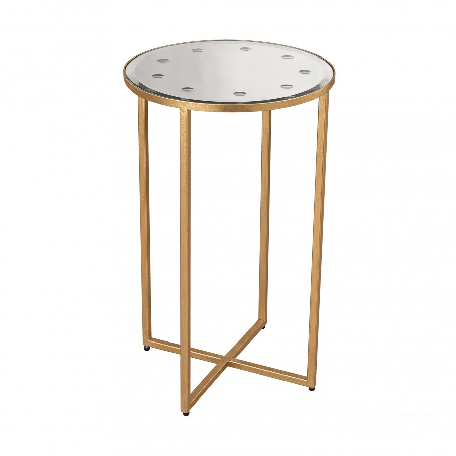 Стол Cross Base Mirror Top Side Table Dimond Home