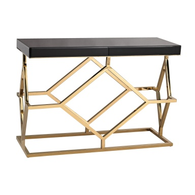 Стол письменный Black and Gold Deco Console Table