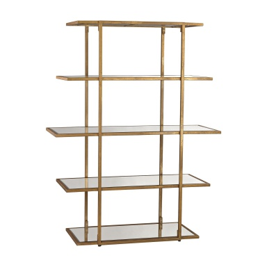 Стеллаж Diamond Gold Leaf Frame Shelf