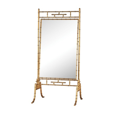 Зеркало Brunei Antique Gold 70-Inch Metal and Glass Standing Mirror