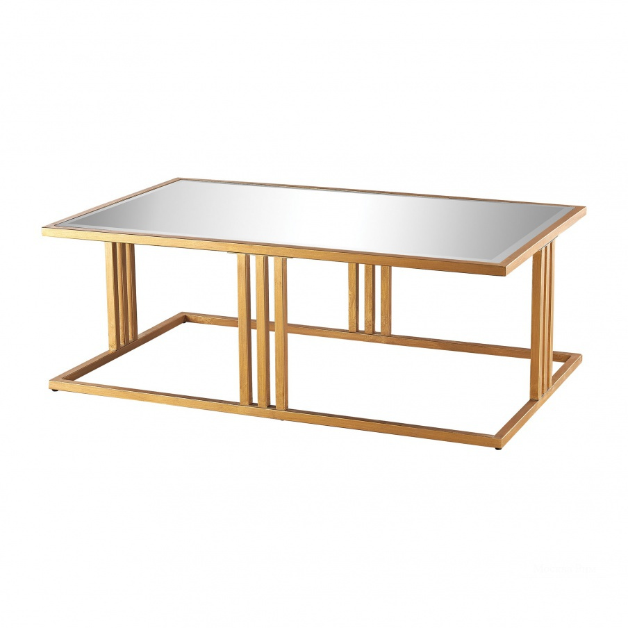 Стол Andy Coffee Table In Gold Leaf And Clear Mirror Dimond Home