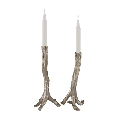 Подсвечник Silver Leafed Branch Candle Holders