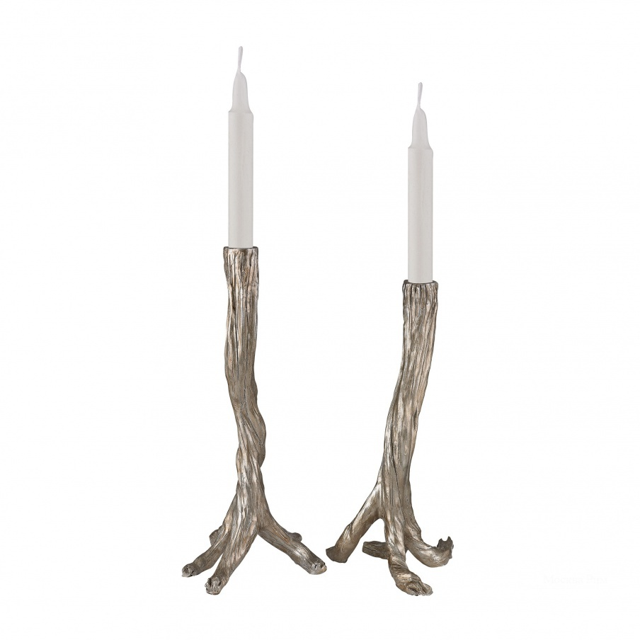 Подсвечник Silver Leafed Branch Candle Holders Dimond Home