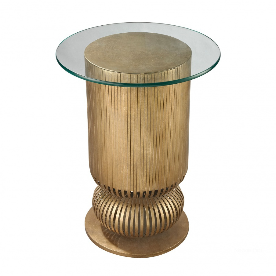 Стол Gold Leaf Sock Bun Side Table Dimond Home