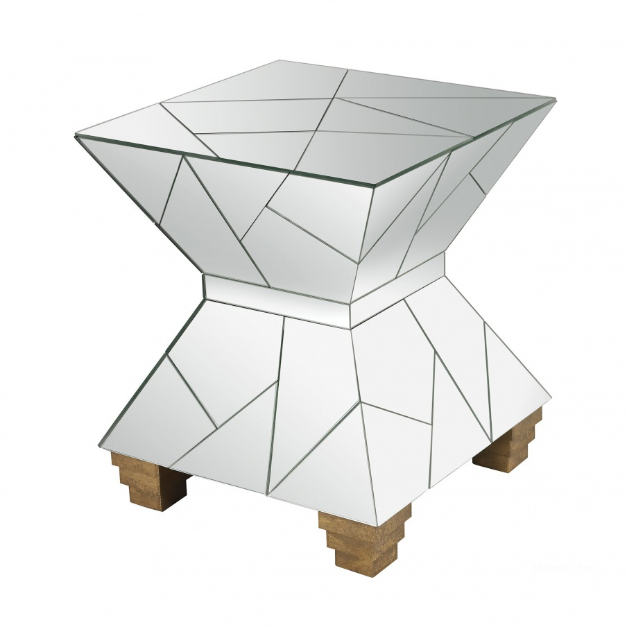 Табурет Mirrored Mosaic Hourglass Foot Stool Dimond Home