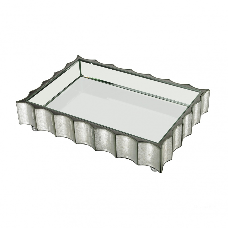 Аксессуар Large Scalloped Edge Mirror Tray Dimond Home