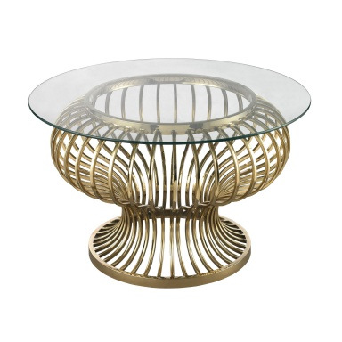Стол Undulating Gold Rod Coffee Table