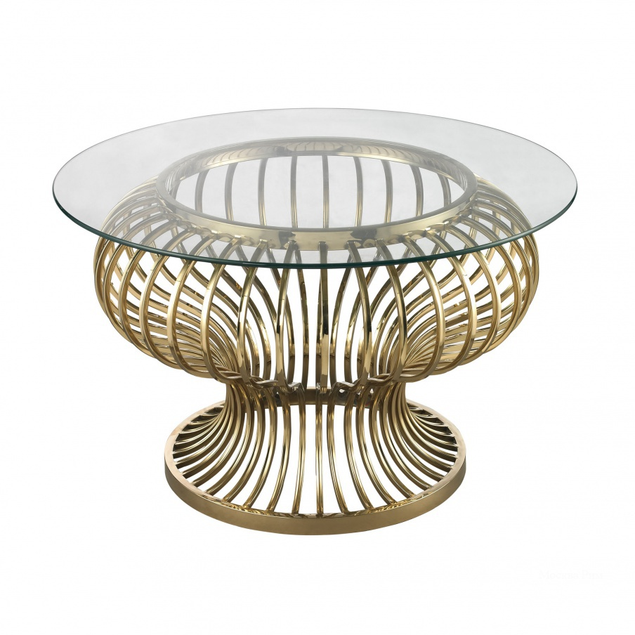 Стол Undulating Gold Rod Coffee Table Dimond Home