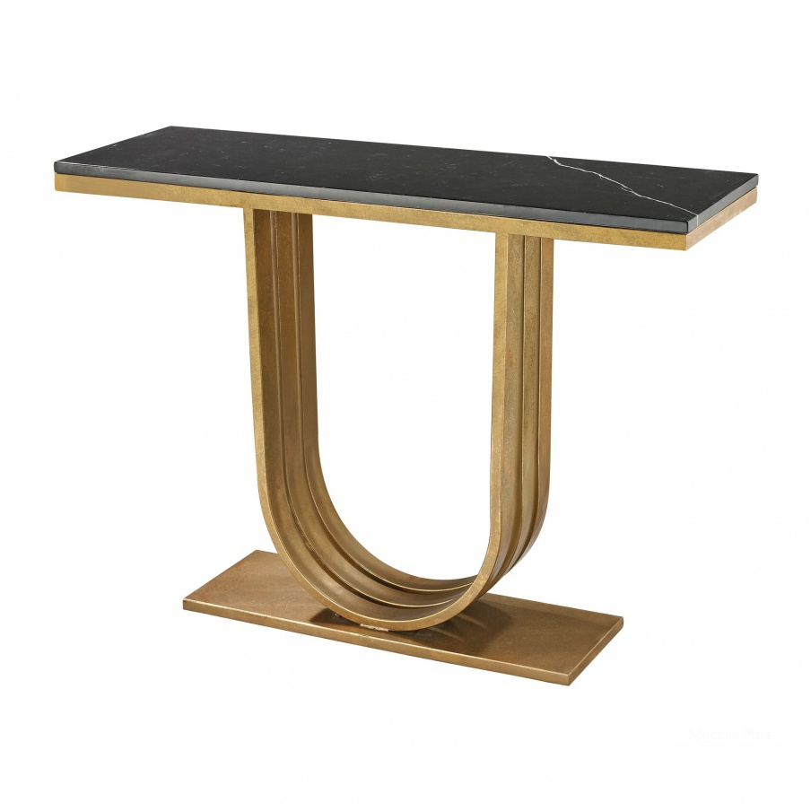 Консоль Gold Leaf And Black Marble Olympia Console Dimond Home