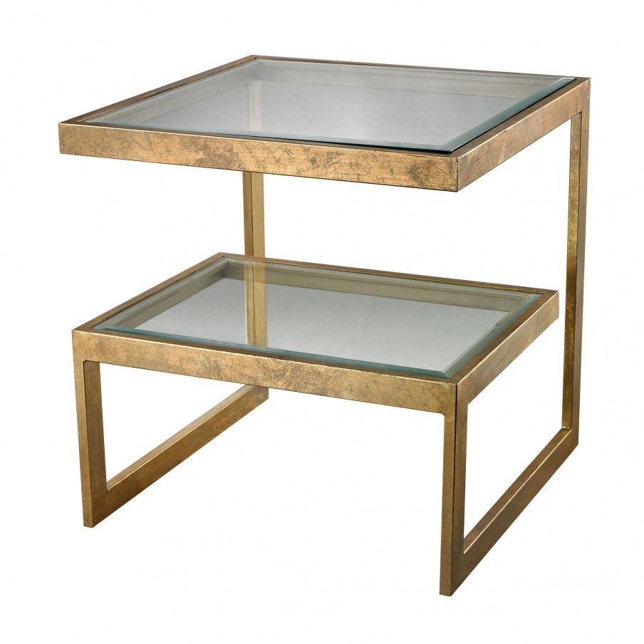 Стол Gold Leaf Key Side Table Dimond Home