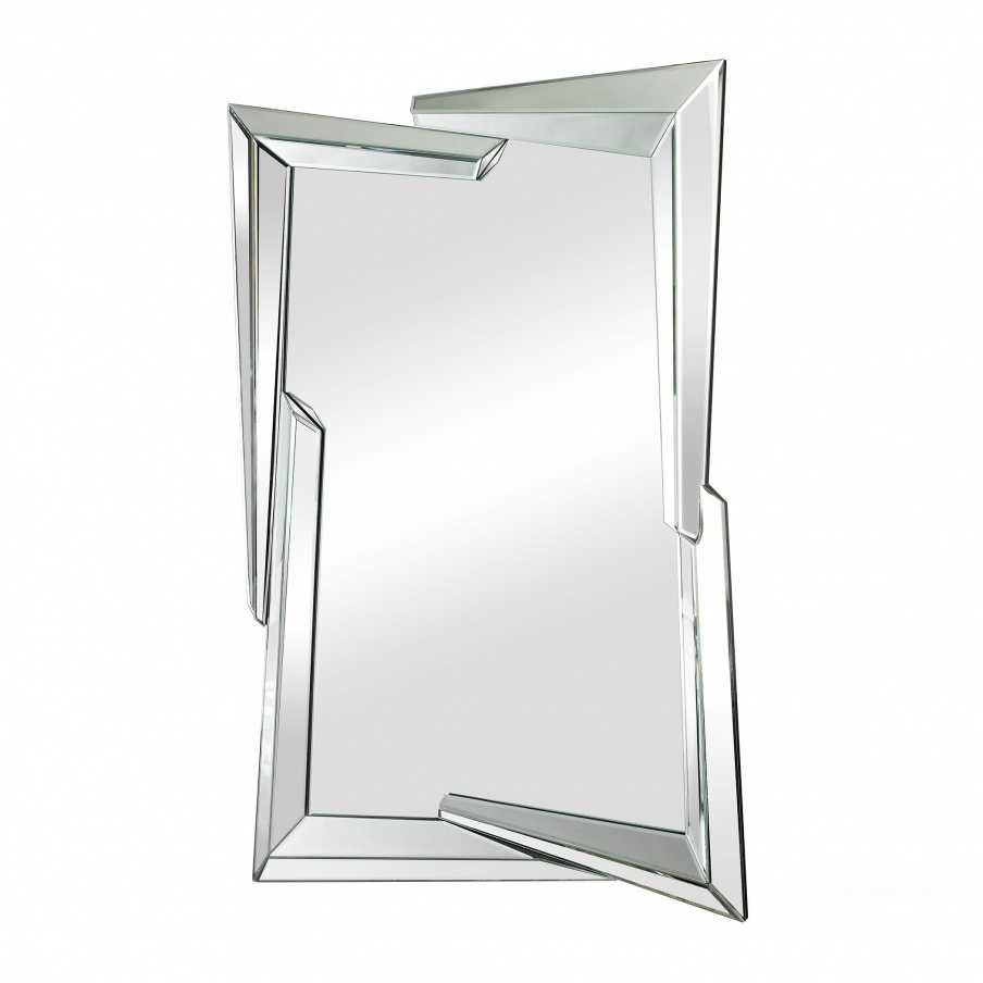 Настенное Juxtaposed Angles Beveled Edge Mirror Dimond Home