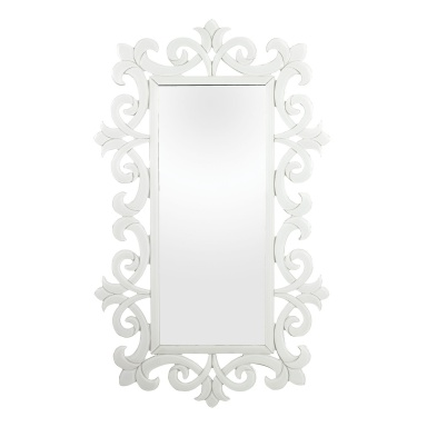 Настенное Haylee Glass Scroll Work Framed Mirror