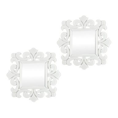 Настенное Haylee Mini Scroll Work Framed Mirrors - Set of 2