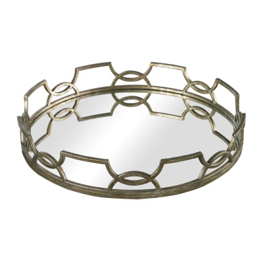 Поднос Iron Scroll Mirrored Tray