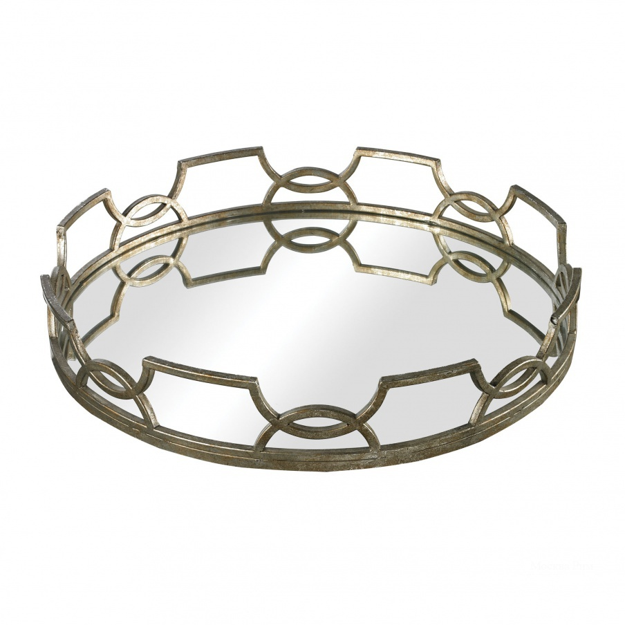 Поднос Iron Scroll Mirrored Tray Dimond Home