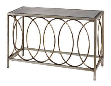 Консоль Rings Console Table With Mirrored Top Dimond Home