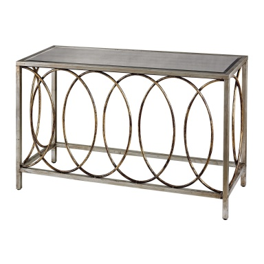 Консоль Rings Console Table With Mirrored Top