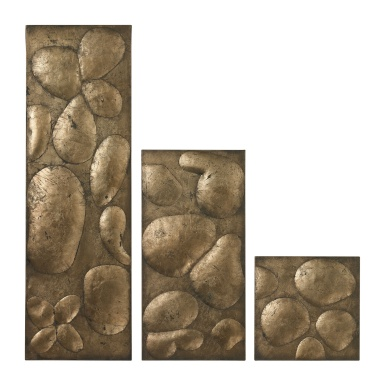 Настенный декор Ramsey Set Of 3 Wall Panels In Gold Leaf By