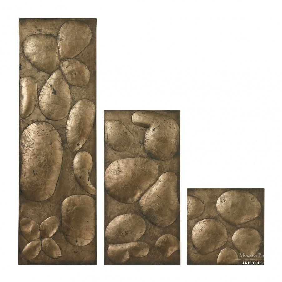 Настенный декор Ramsey Set Of 3 Wall Panels In Gold Leaf By Dimond Home