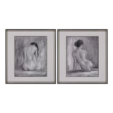 Картина Figure In Black And White I And Ii - Fine Art Print Under Glass