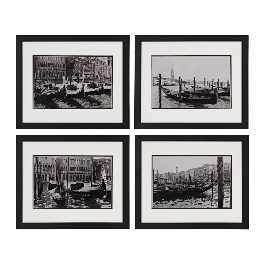 Картина Waterways Of Venice I, II, III, IV - Print Under Glass Dimond Home