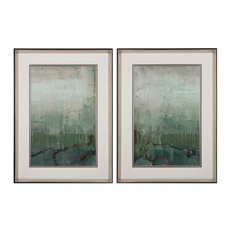 Картина Emerald Sky I, II - Limited Edition Print On Fine Art Paper Under Glass Dimond Home