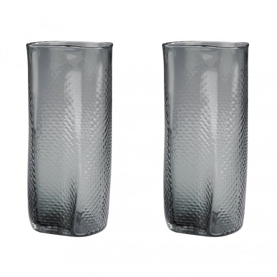 Ваза Grey Etched Glass Vase Dimond Home