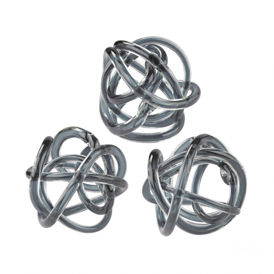 Аксессуар Grey Glass Knot Dimond Home