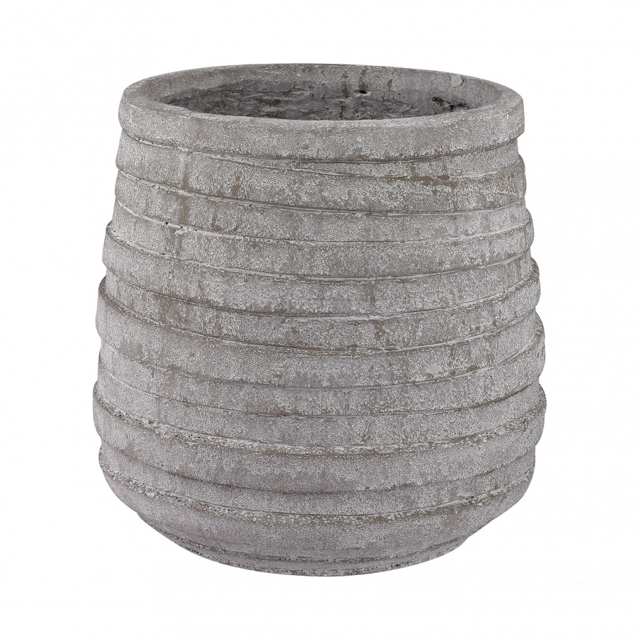 Ваза Barn Gray Corrugated Pot Dimond Home