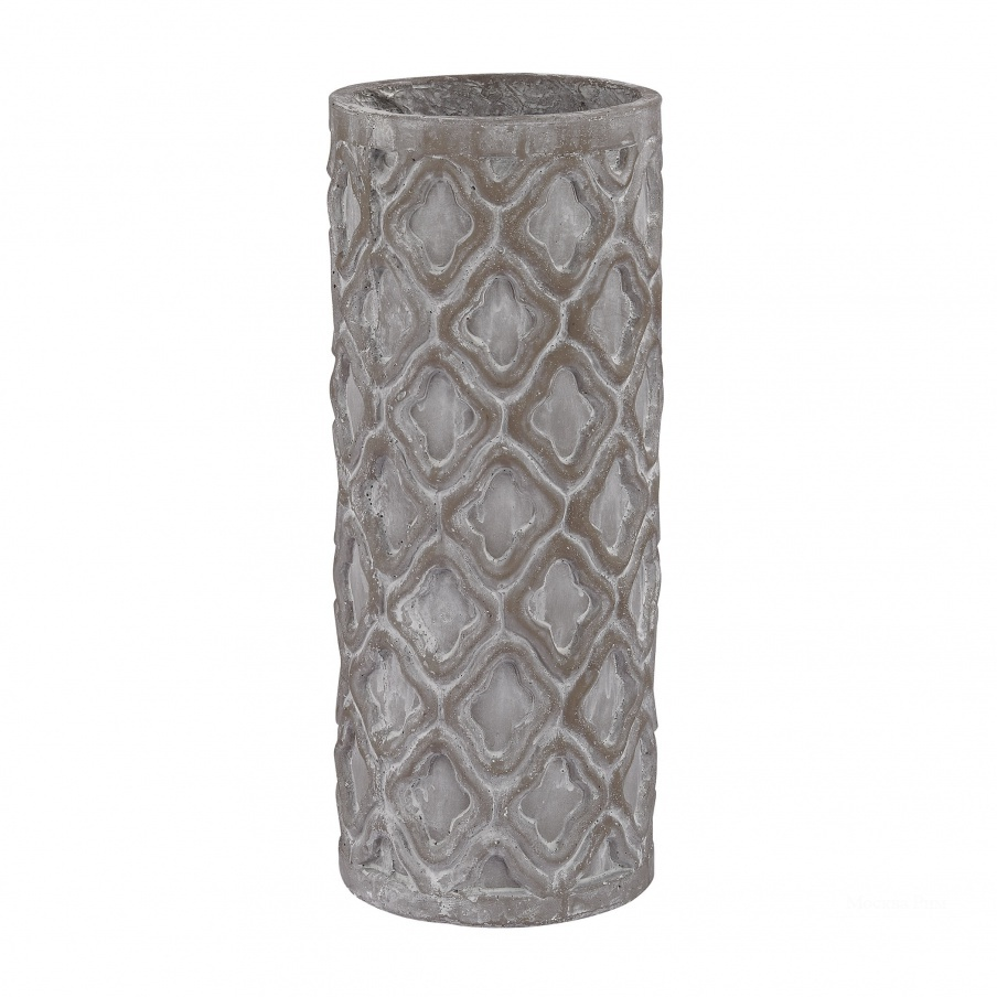 Ваза Short Antique Gray Vase With Organic Pattern Dimond Home