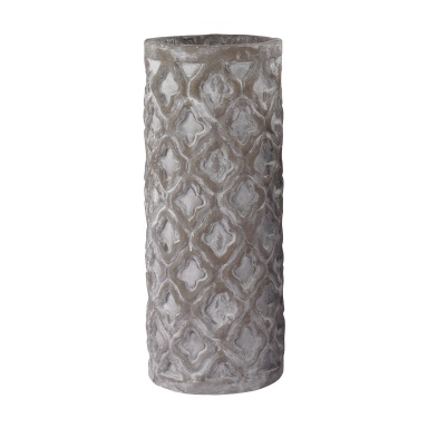 Ваза Tall Antique Gray Vase With Organic Pattern