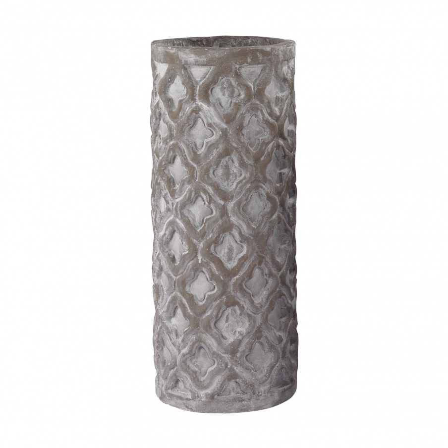 Ваза Tall Antique Gray Vase With Organic Pattern Dimond Home