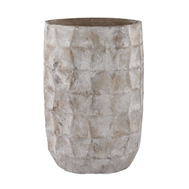 Ваза Aged Powdered Vase With Faceted Texture